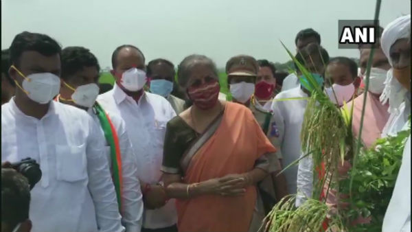 vijayawada tour: nirmala sitharaman on new farms act