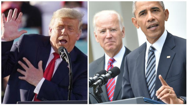 us election 2020: Trump says it is good news Obama is campaigning for Biden