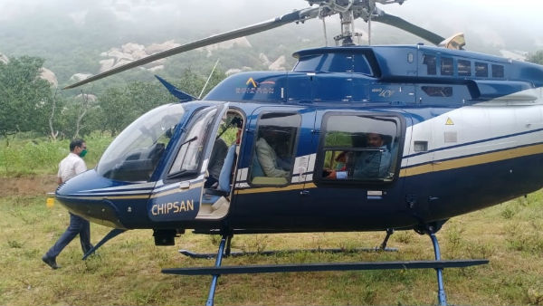 Narrow escape for jeweller family as helicopter makes emergency landing enroute Tirupati