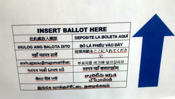 us election ballot papers also printed in telugu for the convenience of voters