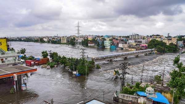 Central team came to Hyderabad and had discussion with higher officials about flood loss