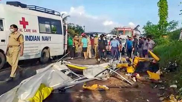 Two Navy personnel dead as a glider on routine flight crashes in Kochi