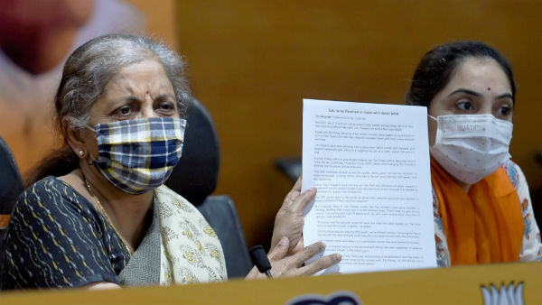 BJPs Bihar poll promise of free Covid vaccine perfectly in order:Nirmala