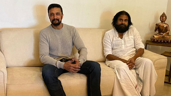 Kicha Sudeep meets Janasena Chief Pawan kalyan, discuss current issues and shootings after unlock
