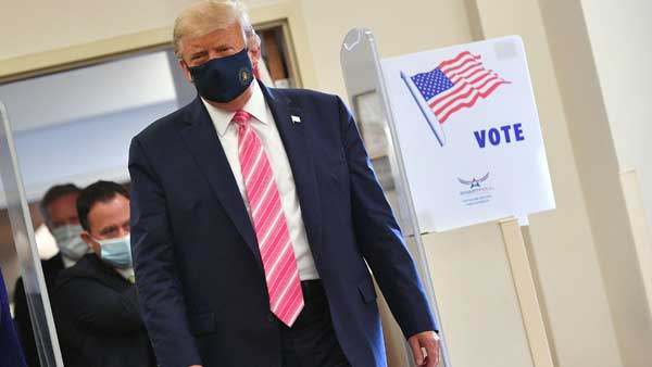 US Election 2020: Donald Trump cast an early ballot in the US election