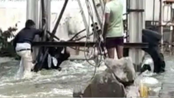 Daring Rescue In Hyderabad To Save Man Swept Away By Flood