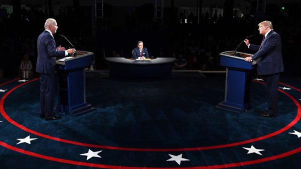 us election 2020: చివరి డిబేట్లో కీలక అంశాలపై డొనాల్డ్ ట్రంప్, జో బైడెన్