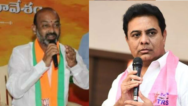 telangana minister ktr fires bandi sanjay for his surgical strikes comments.