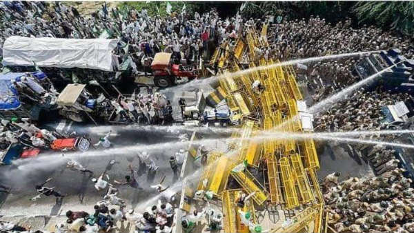 farmers long march against centres farm laws turns violent at delhi borders