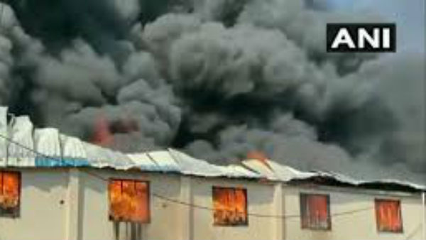 vmassive fire broke out at a plastic manufacturing unit in Gujarats Valsad