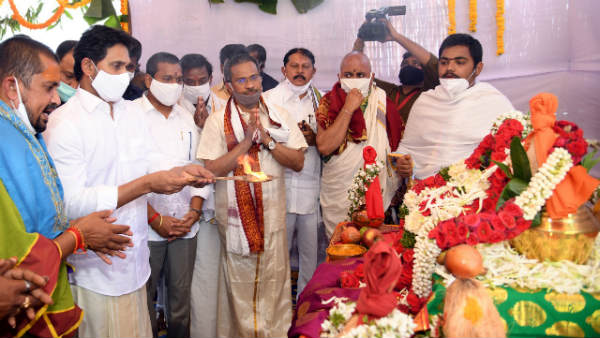 cm jagan launches tungabhadra pushkarams in kurnool, offer spl puja at sankal bagh