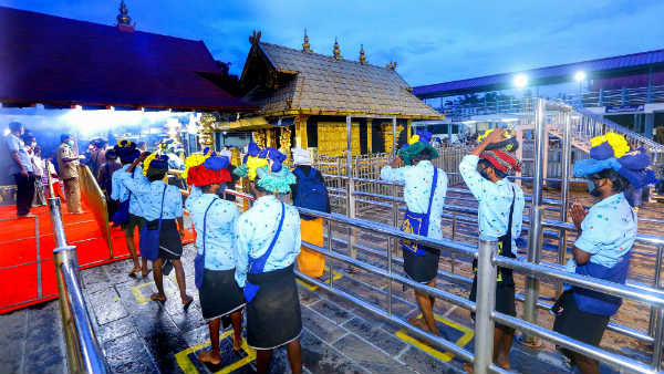 Corona restrictions effect in Sabarimala.. 9k devotees visited for the first week !!