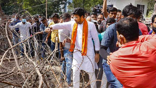 GHMC elections 2020: Case registered against BJP MP Tejaswi Surya for entering Osmania University