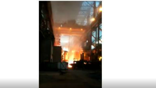 Andhra Pradesh: Fire accident in visakhapatnam steel plant