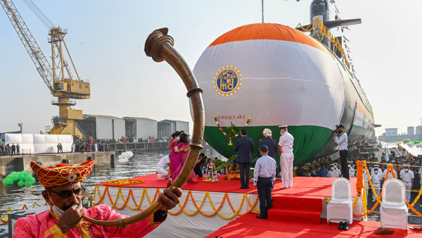 Indian Navys fifth Scorpene class submarine Vagir launched