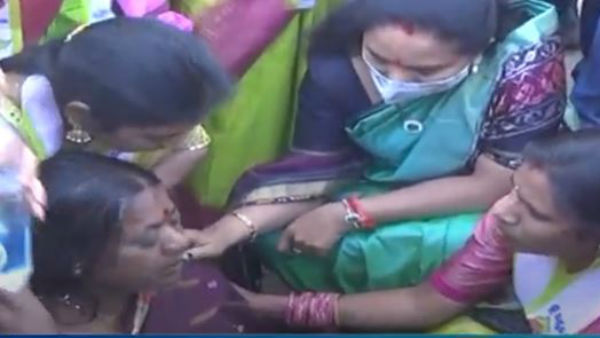 mlc kavita Halts Official Visit To Help Unconscious Woman Lying On Road