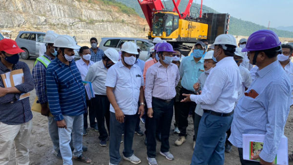 ppa team visits polavaram project, says no decrease in height and as per first dpr only