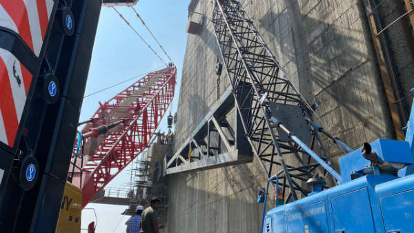 polavaram project update- erection of arm girders for radial gates begins today