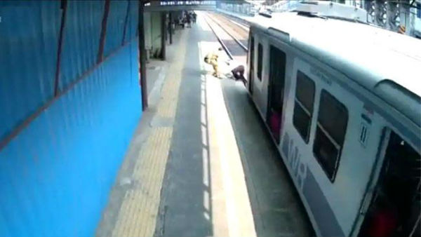 Mumbai cop saves elderly man from getting crushed under train at Dahisar Railway Station, slaps him later