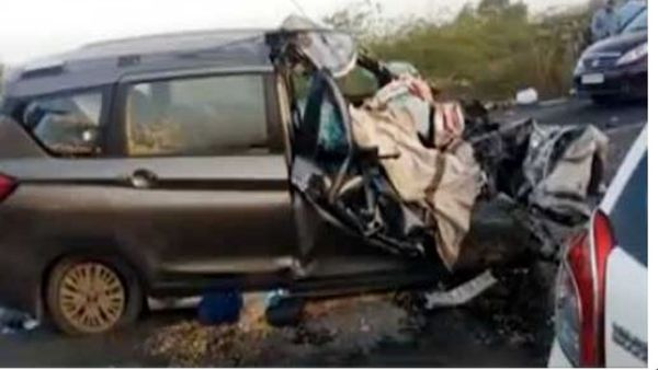Two telangana govt employees killed in a road accident in Surat