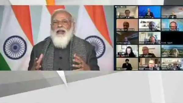 భారత్ నుంచి మరిన్ని వ్యాక్సిన్లు -WEF's Davos Dialogueలో ప్రధాని మోదీ