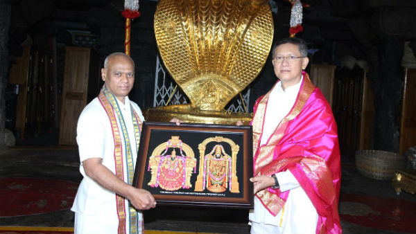 DGP Gautam Sawang visits TTD and takes blessings from Lord Venkateswara Swamy at Tirumala