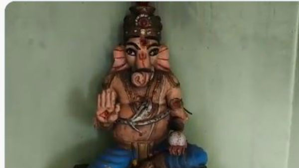 another hindu temple attacked ganapathi idol vandalised in the vishakapatnam