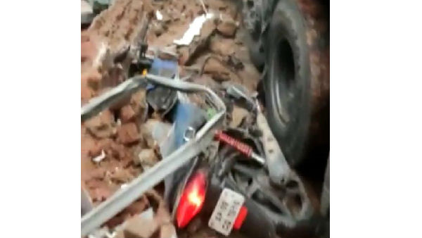 one died after high speed lorry hits dcm vehicle in uppal hyderabad