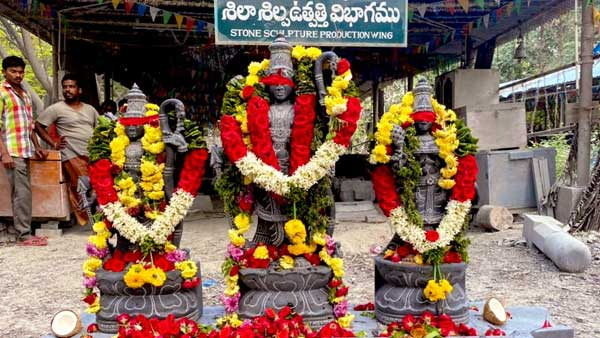 New idols arrive at Ramatheertham temple from Tirupati