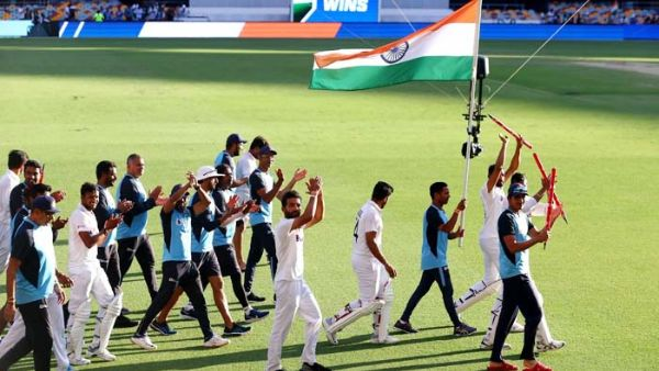 team india historic victory in gabba cm kcr and minister ktr wishes to india team mates