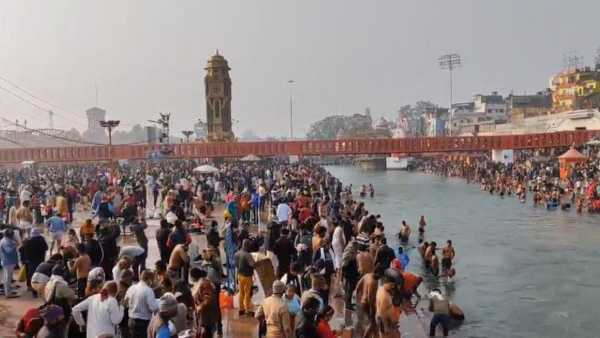 Thousands gather in Haridwar for Kumbh Mela 2021, flouting Covid-19 norms