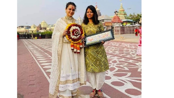 Odisha: Kangana Ranaut visits Lord Jagannath temple in Puri