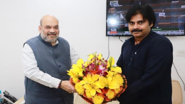 Pawan Kalyan meets Union Minister Amit Shah over Visakha steel Plant privatisation issue