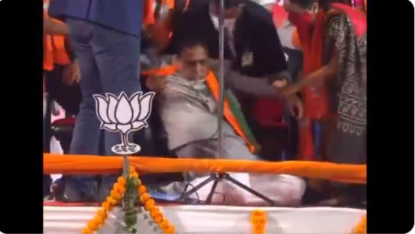 Gujarat CM Vijay Rupani Faints While Addressing Poll Rally