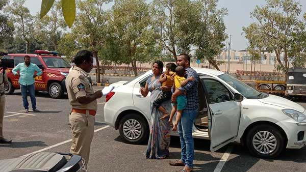 police save nellore family attempting suicide near ap secretariat with two children