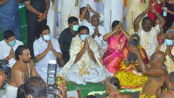 Tamil Nadu CM Palaniswami lays foundation stone for TTD Temple