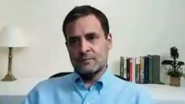 Earthquake strikes during Rahul Gandhis live session Watch his reaction