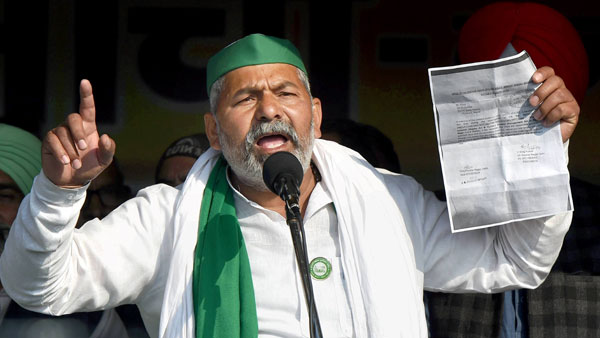 congress leader shocking remark to support farmers protests rakesh tikait counters it