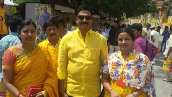 tdp mla gadde rammohan assure volunteers to increase salry to 18k if comes into power