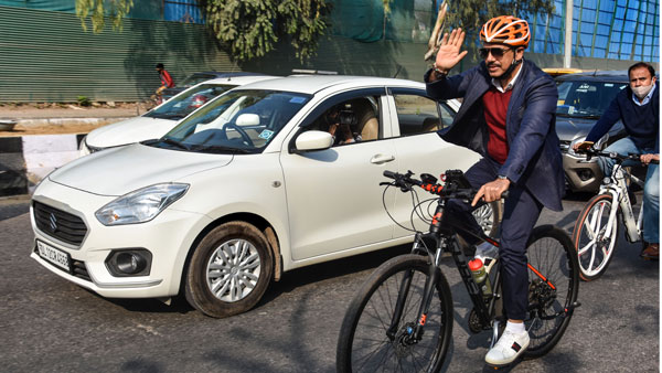 Robert Vadra, On Bicycle, Slams PM Over Fuel Price