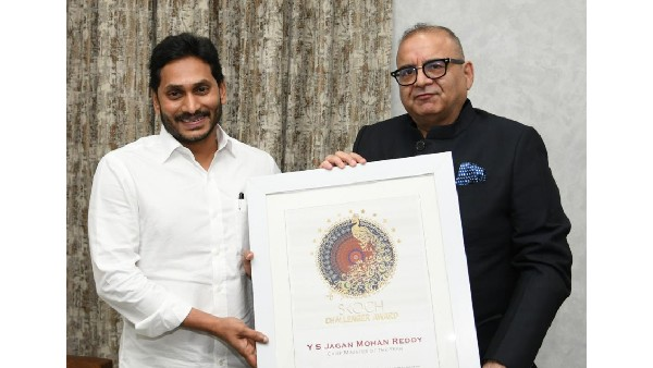 YS Jagan conferred Chief Minister of the Year Award by SKOCH Group