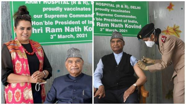 President Ram Nath Kovind receives first dose of Covid-19 vaccine in Delhi