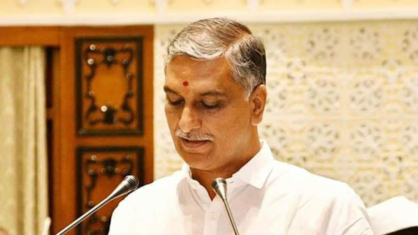 minister harish rao sing a song on nalgonda floride issue