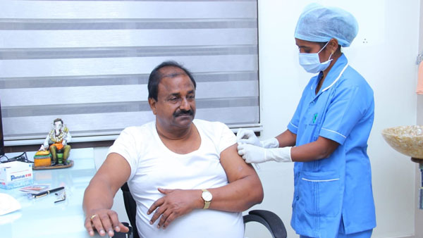 Kurnool: Andhra BJP Chief Somu Veerraju took his first dose of Covid Vaccine