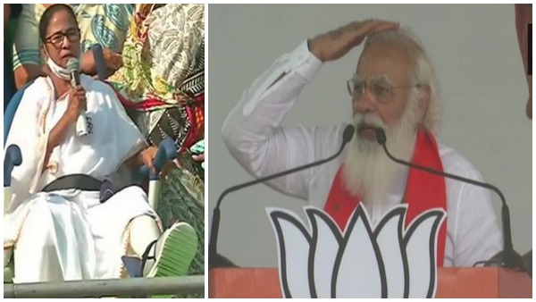 Didi, put your foot over my head and kick me but not Bengals development says PM Modi