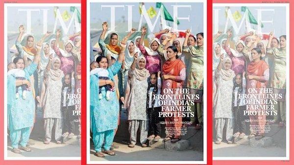 టైమ్ మ్యాగజైన్ అంతర్జాతీయ కవర్ ఫోటోగా  రైతుల ఉద్యమానికి నాయకత్వం వహిస్తున్న మహిళలు