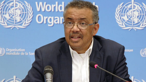 WHO chief Tedros calls growth in coronavirus cases 'worrying'