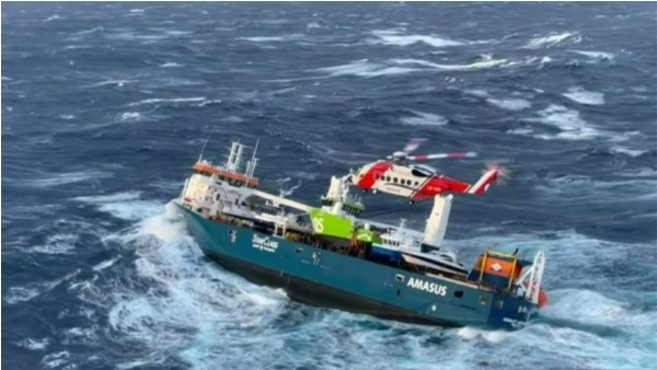 Dutch Cargo Ship Adrift off Norway twelve crew rescued