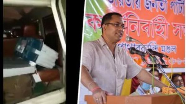 evm in assam bjp car: driver simply helped poll officials says BJP candidate, EC sacks 4, repolling