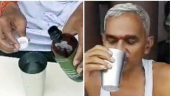 viral video: కరోనాకు విరుగుడు ఇదే -గోమూత్రం తాగితే భారత్ నుంచి కొవిడ్ పరార్: బీజేపీ ఎమ్మెల్యే డెమో